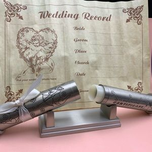 Personalized Silver Marriage Certificate Holder